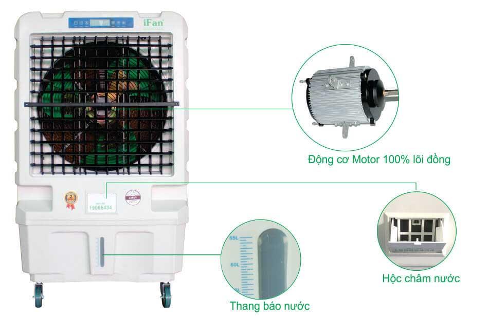 Diện mạo, cấu tạo mạnh mẽ của máy làm mát, quạt điều hòa hơi nước iFan-1600i