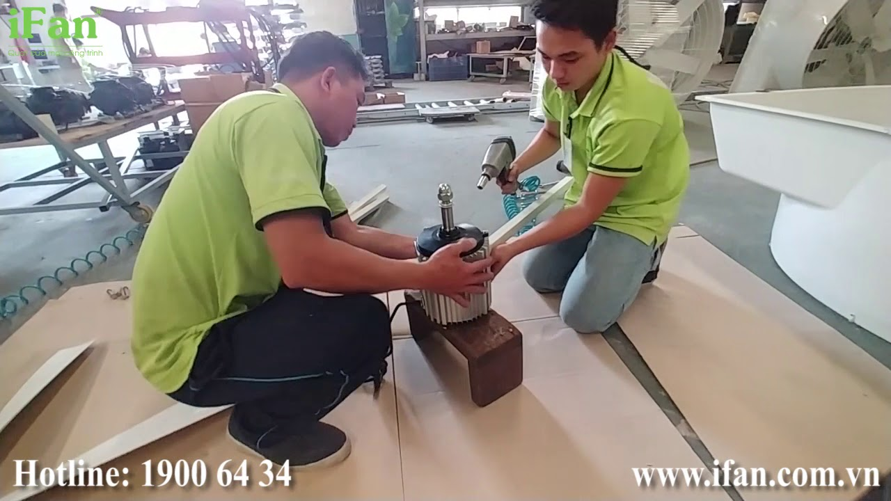 Hướng dẫn lắp ráp quạt thông gió Composite