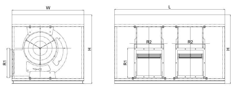 Bản vẽ Quạt điều hòa công nghiệp BF-II