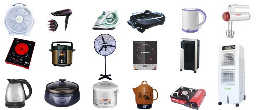 Các mặt hàng điện gia dụng trên thị trường