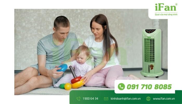 Máy làm mát iC-03 Plus cho gia đình có trẻ nhỏ