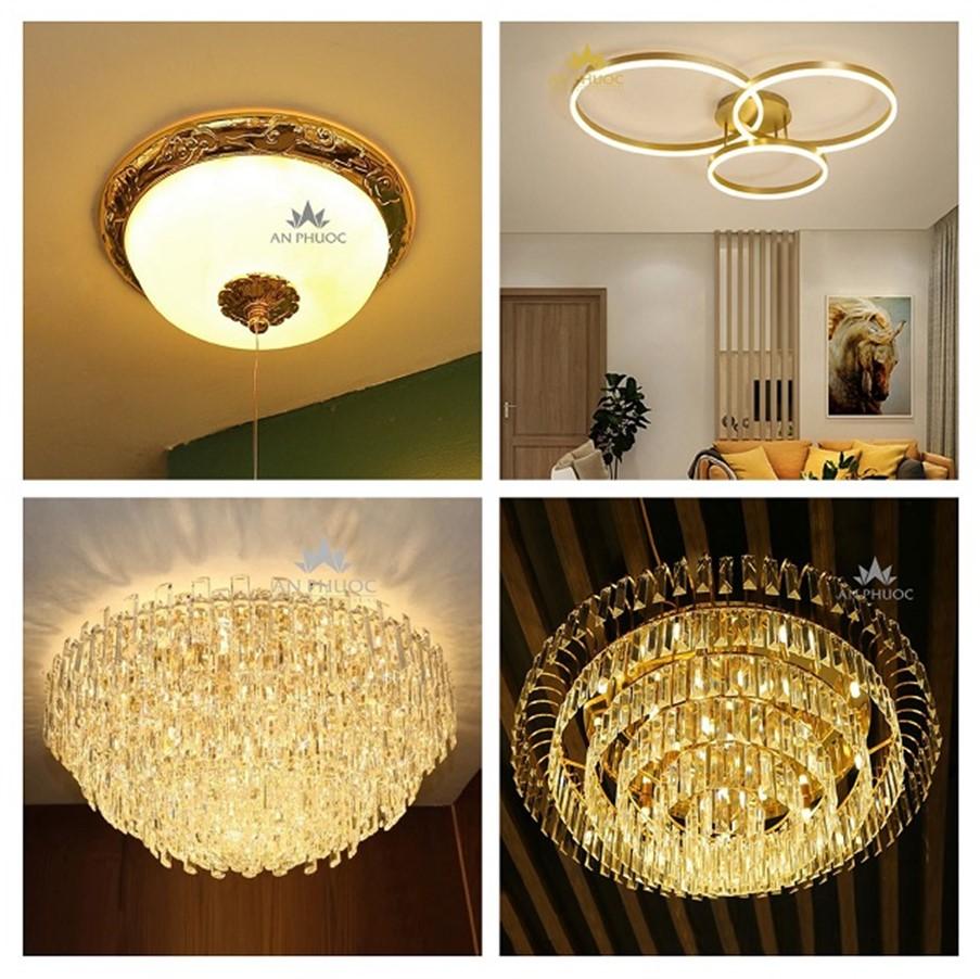 Đèn mâm trang trí trong không gian nhà nhỏ