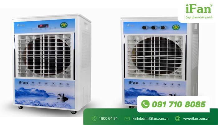 Quạt hơi nước iFan 7000D là máy điện tử và 7000A là máy cơ