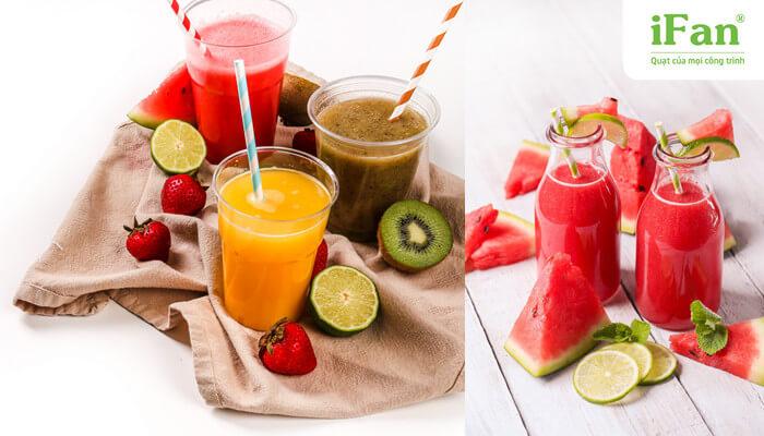 Thức uống từ hoa quả thiên nhiên giúp cơ thể thanh mát