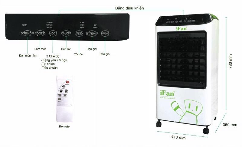 Bảng điều khiển máy làm mát thông minh iFan-250