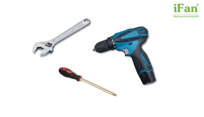 Một số công cụ cần thiết khi lắp đặt quạt treo tường