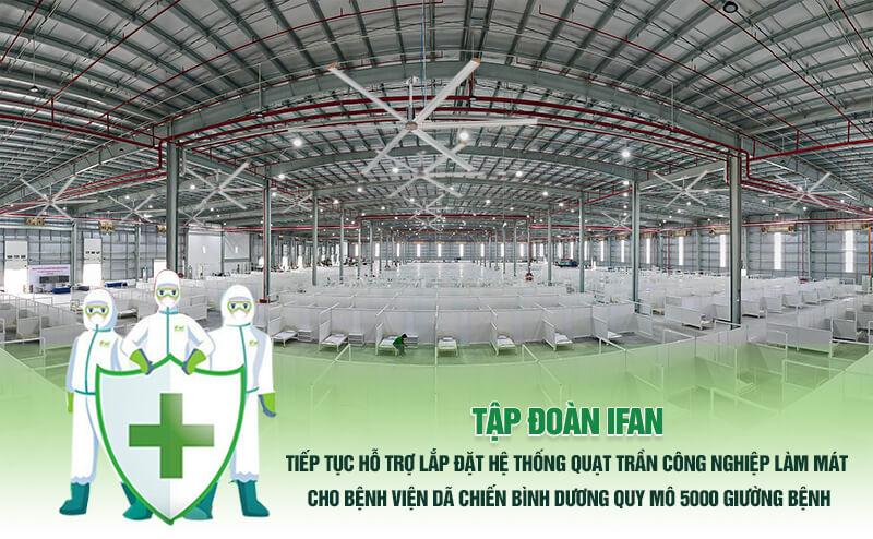 Tập đoàn iFam hỗ trợ lắp đặt quạt trần công nghiệp cho bệnh viện dã chiến Bình Dương